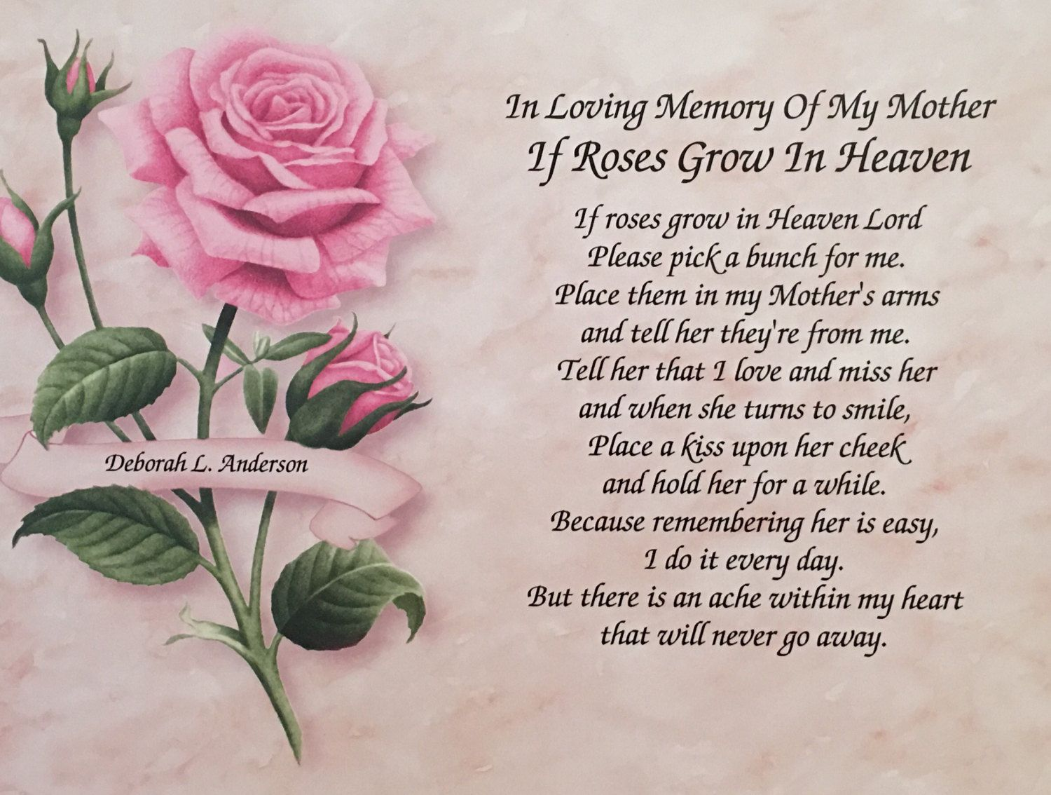 In memory of mother sympathy gifts memorial day gifts