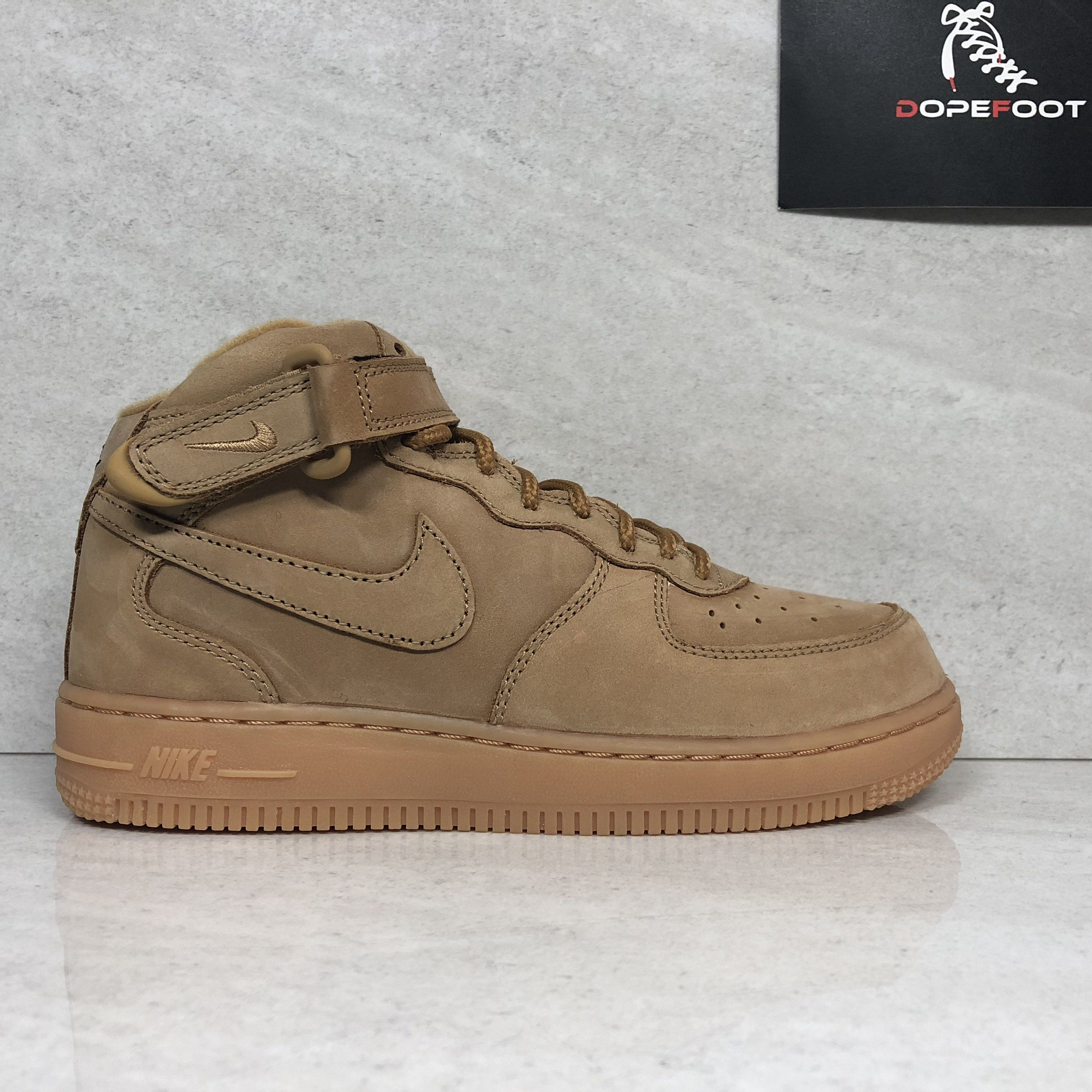 premium selection 8d577 9fbec DS Nike Air Force 1 Mid WB (PS) Flax Size 2Y/3Y Wheat AH0756 ...