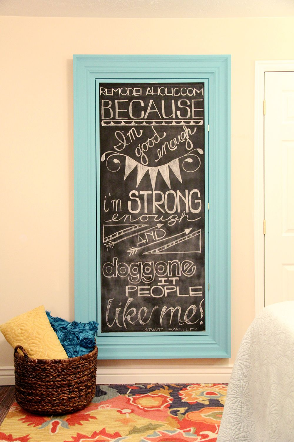 Master Bedroom Chalkboard frame 036 | Home Sweet Home | Pinterest