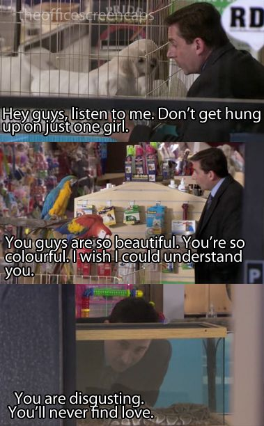 You Are Disgusting You Ll Never Find Love Office Quotes The Office Just For Laughs