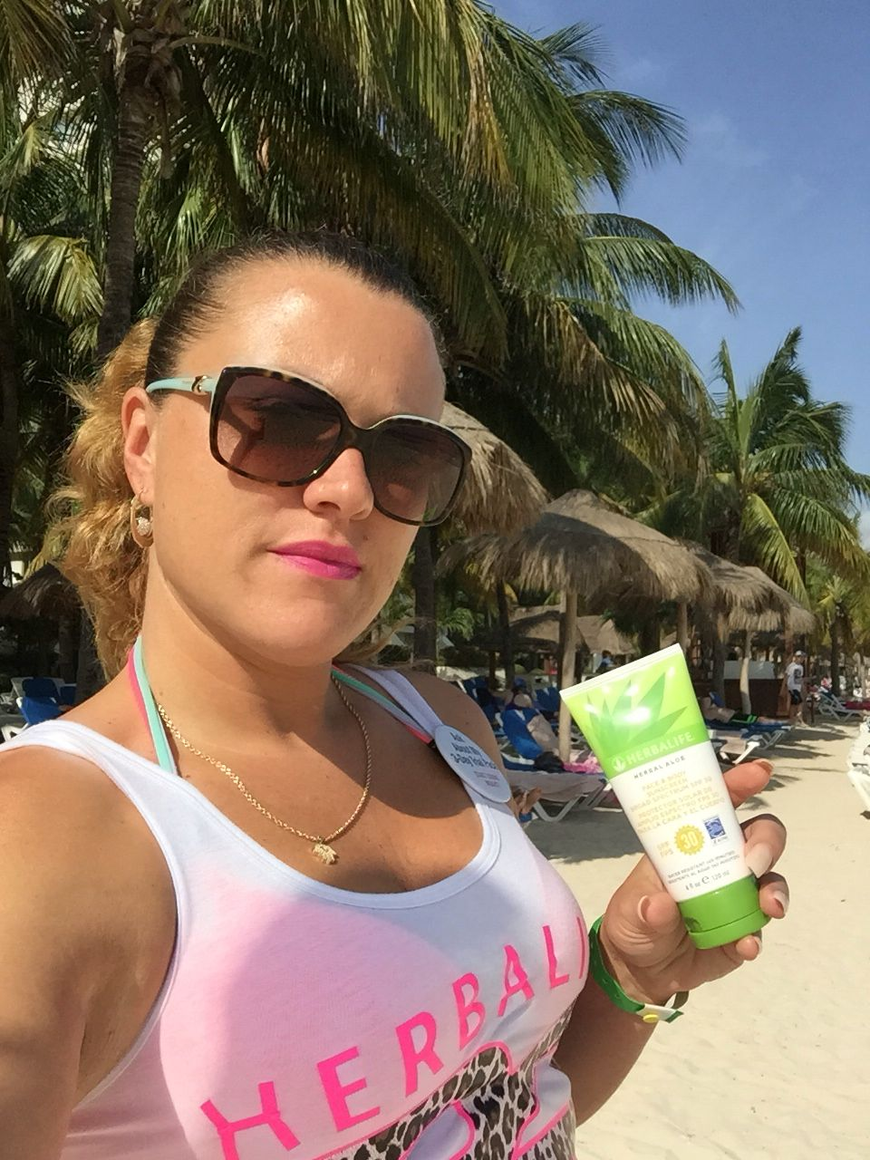 Herbalife sunscreen has an amazing smell and it works. I was the only one to use the product one day because the family ran straight to the water and they got burnt while I did not. Herbalife also has aloe gel to sooth sun burn. Get it @ www.GoHerbalife.com/hilazloof/en-US