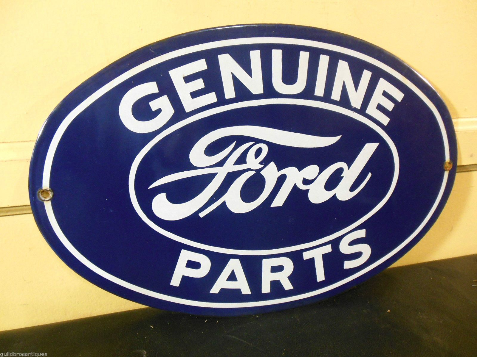 Vintage 1940 Ford Genuine Auto Parts Porcelain 16 1 2 Oval Gas Oil Sign Ebay 1940 Ford Ebay Ford