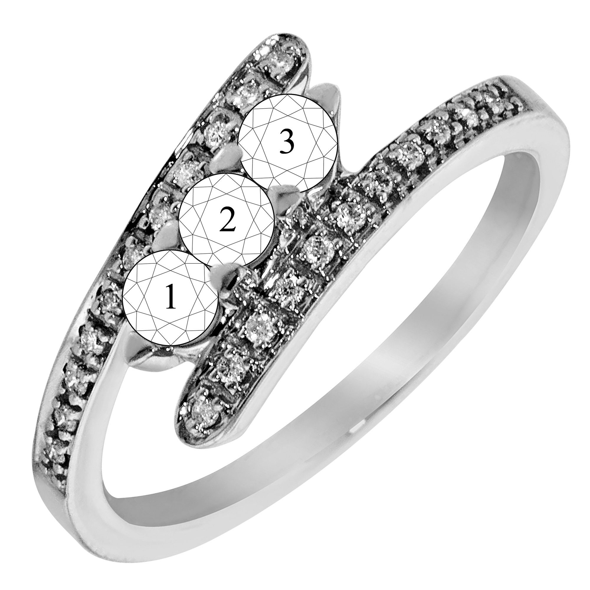 featuring rings our impress friends miadora round pin bypass this two wedding collection cut from and diamond gold your with white ring sapphire tdw