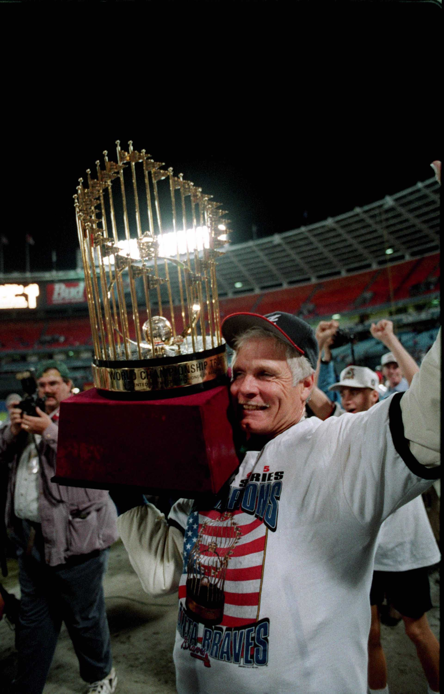 Photos Braves World Series Game 6 Oct 28 1995 Myajc Latest News Braves Atlanta Braves World Series