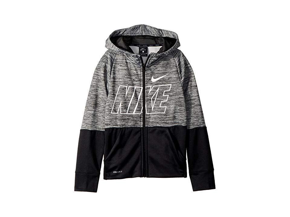 87afe1c8 Nike Kids Therma Full Zip Graphic Training Hoodie (Big Kids) (Black/Pure