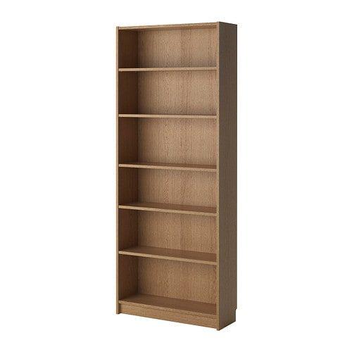 BILLY Bookcase - oak veneer 80x28x202 cm   Bookcase, Billy ...