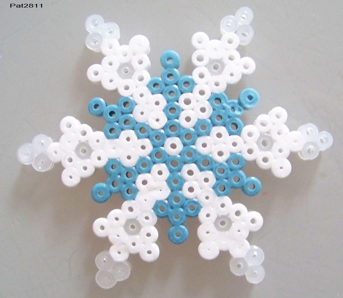 Perle hama neige les loisirs de pat perles a repasser pinterest les loisirs perles - Perles a repasser modeles gratuit ...