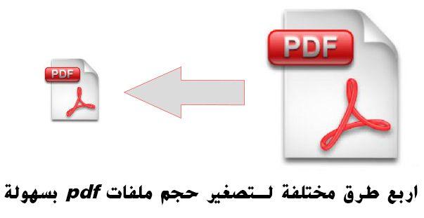 اربع طرق مختلفة لـتصغير حجم ملفات Pdf بسهولة Letters Symbols Pdf