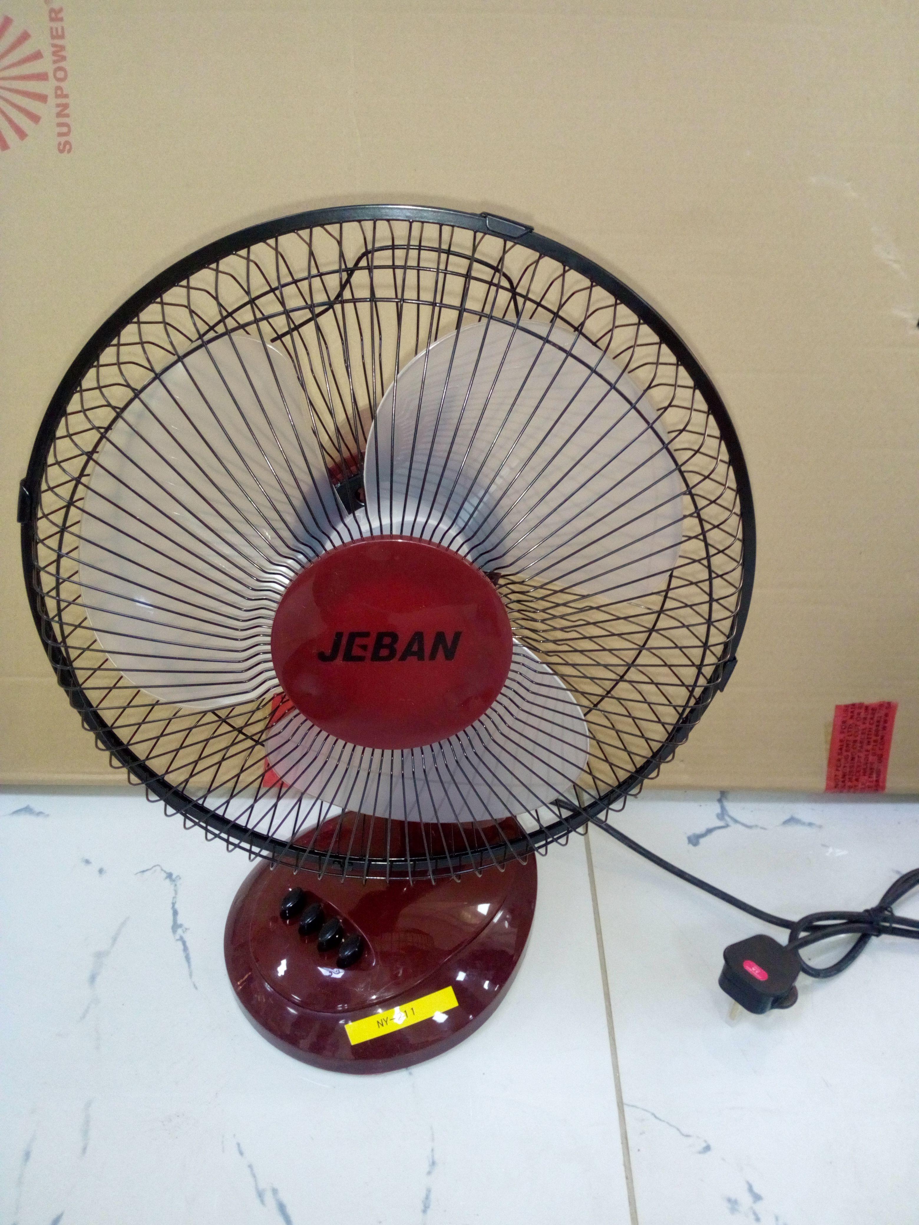 Table Fan Jeban Brand 40 Watts Brown Colors Table Fan Fan