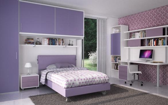 Stanze Da Sogno Per Ragazze Lilla : Cameretta a ponte per ragazze con letto imbottito bedroom ideas