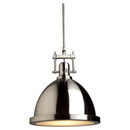 Broadview Pendant in Polished Nickel