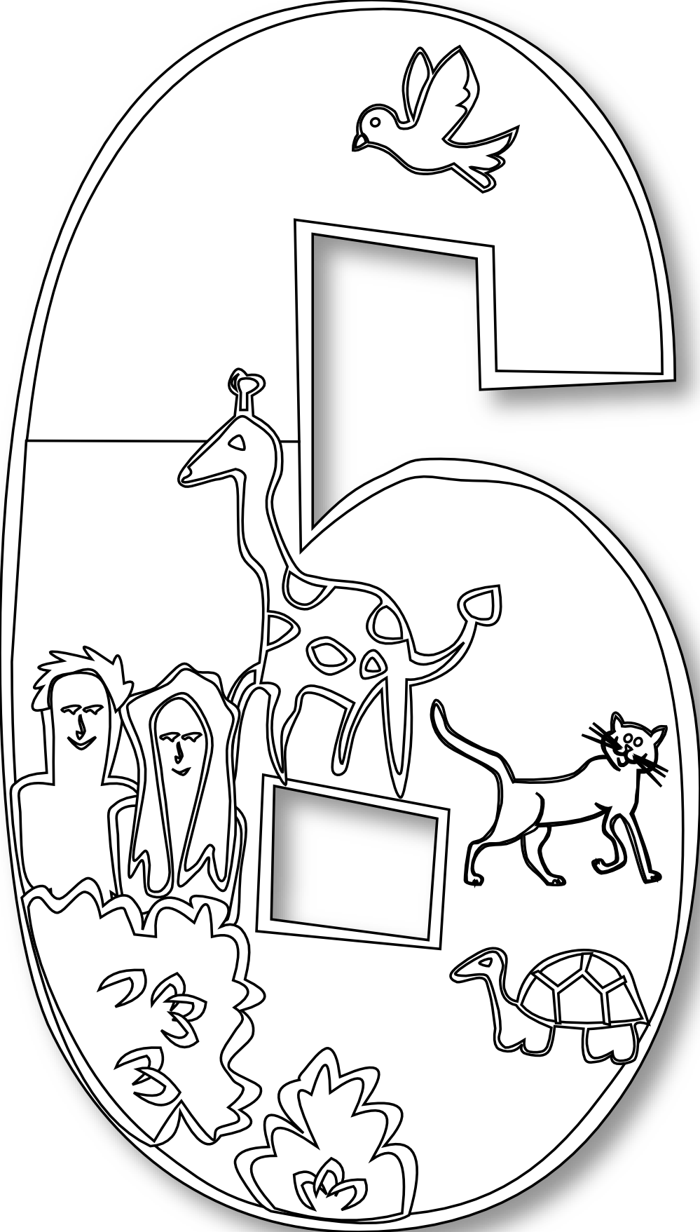 black and white bible coloring pages | number clipart black and white creation - Google Search ...