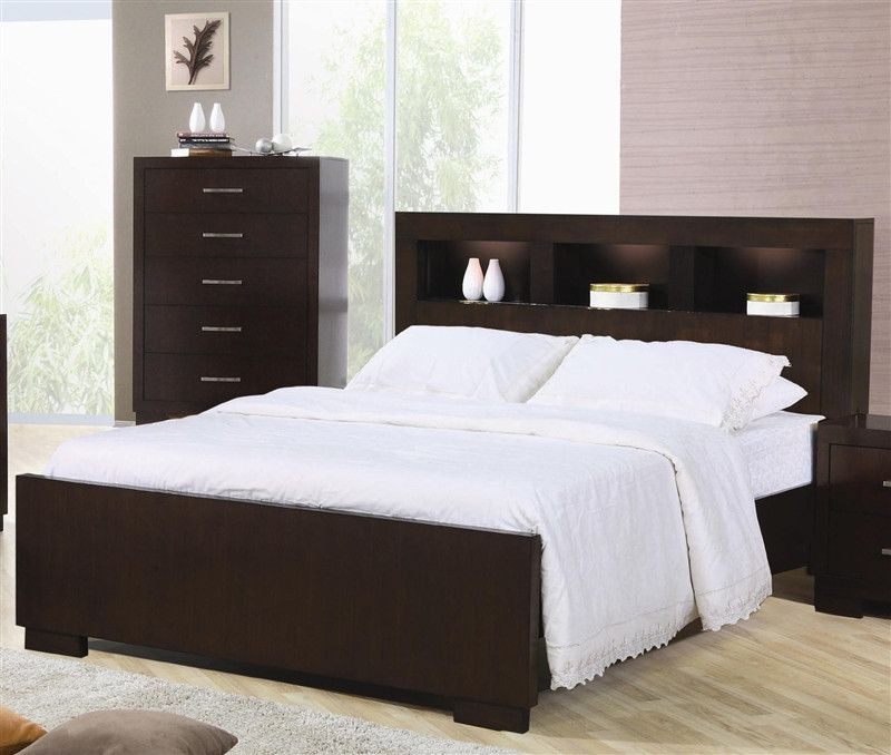 Jessica King Bed With Storage Headboard Austins Furniture Outlet