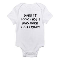 Born Yesterday Crayon - Infant Bodysuit < Funny Sayings On Funny Baby Onesies < Funny Sayings On Baby Onesies < Funny Baby Onesies Bibs T-shirts Creepers Baby Shower Gifts