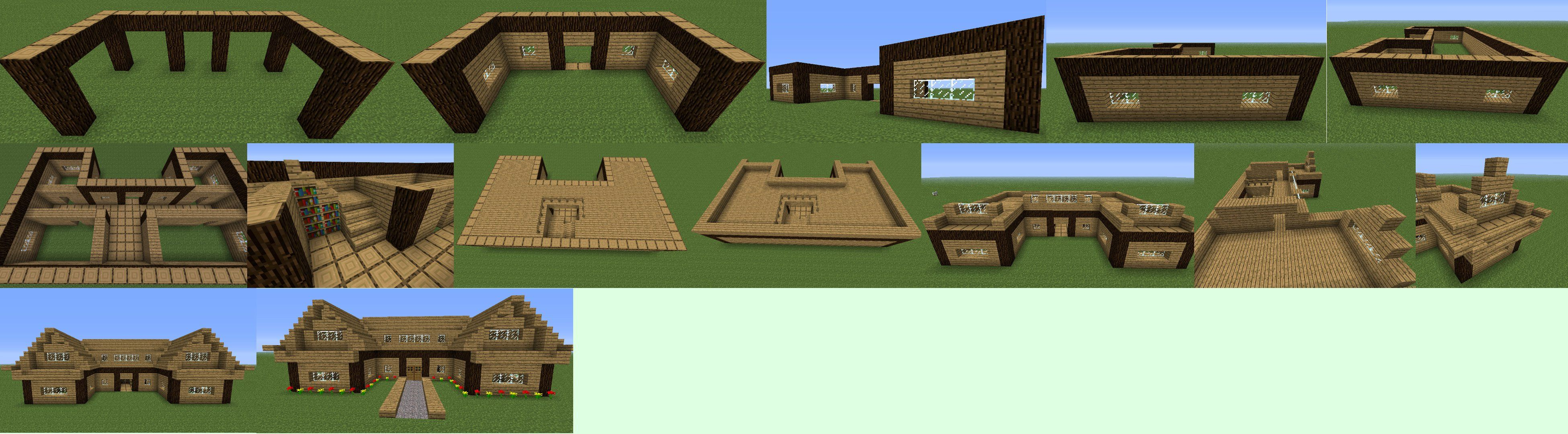 Minecraft houses step by step google search minecraft for Building a house step by step