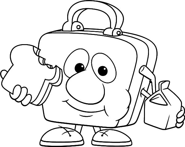 Lunchbox Eating Lunch Coloring Pages Download Print Online Coloring Pages For Free Color Nimbus Online Coloring Pages Online Coloring Coloring Pages