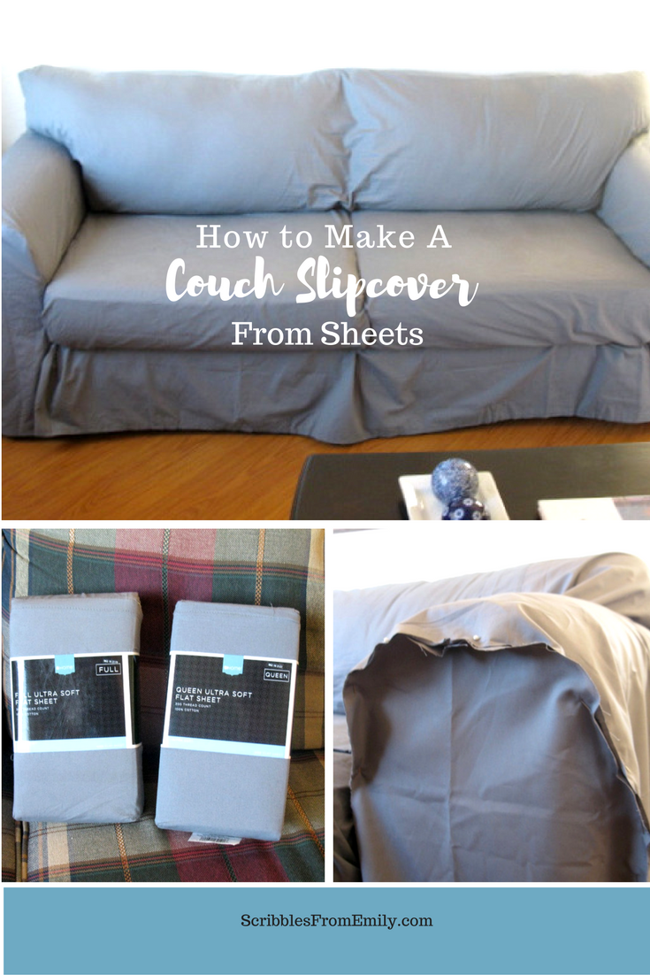 When Some Friends Offered Us A Free Couch I Hesitated Before Accepting It We D Had Free Couches Before And Slip Covers Couch Diy Sofa Cover Diy Couch Cover