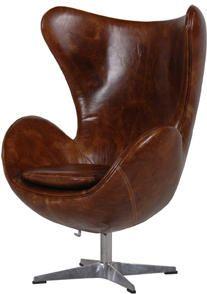 Leather Swivel Egg Chair Ledersessel Vintage Pinterest Chair