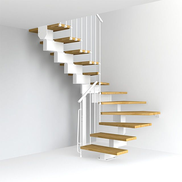 Escalier En U Magia 90 13h L 80cm Blanc Chene Castorama