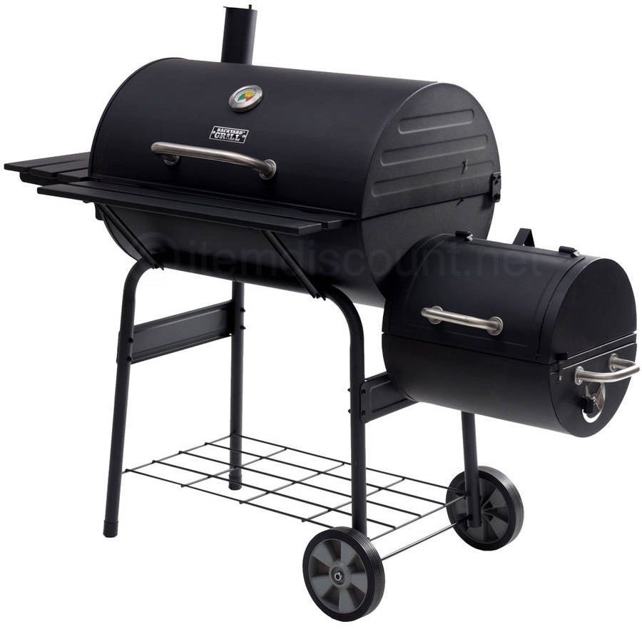 560 sq in charcoal barrel grill offset smoker bbq pit wood meat
