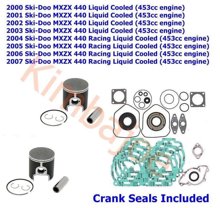 2000 2007 Ski Doo MXZX 440 453cc L C 65 Mm STD Bore SPI Pistons