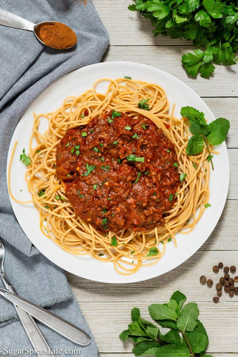 Greek Meat Sauce With Spaghetti Recipe Meat Sauce Beef Recipes Flavorful Sauce