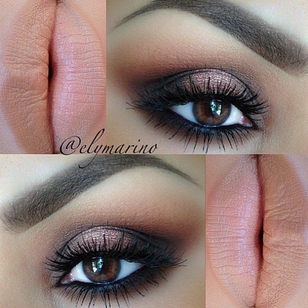✨@elymarino   makeup ideas  nude lips  eye makeup