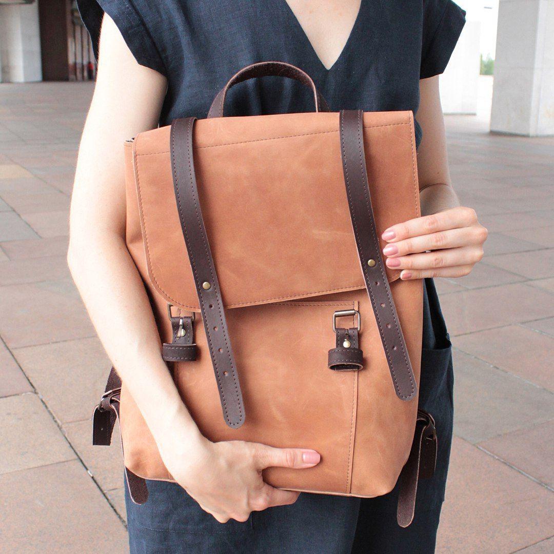 Backpack Women Laptop Backpack Leather Backpack Mini Backpack Leather Laptop Bag Leather Rucksack Hipster Backpack Minimalist Backpack