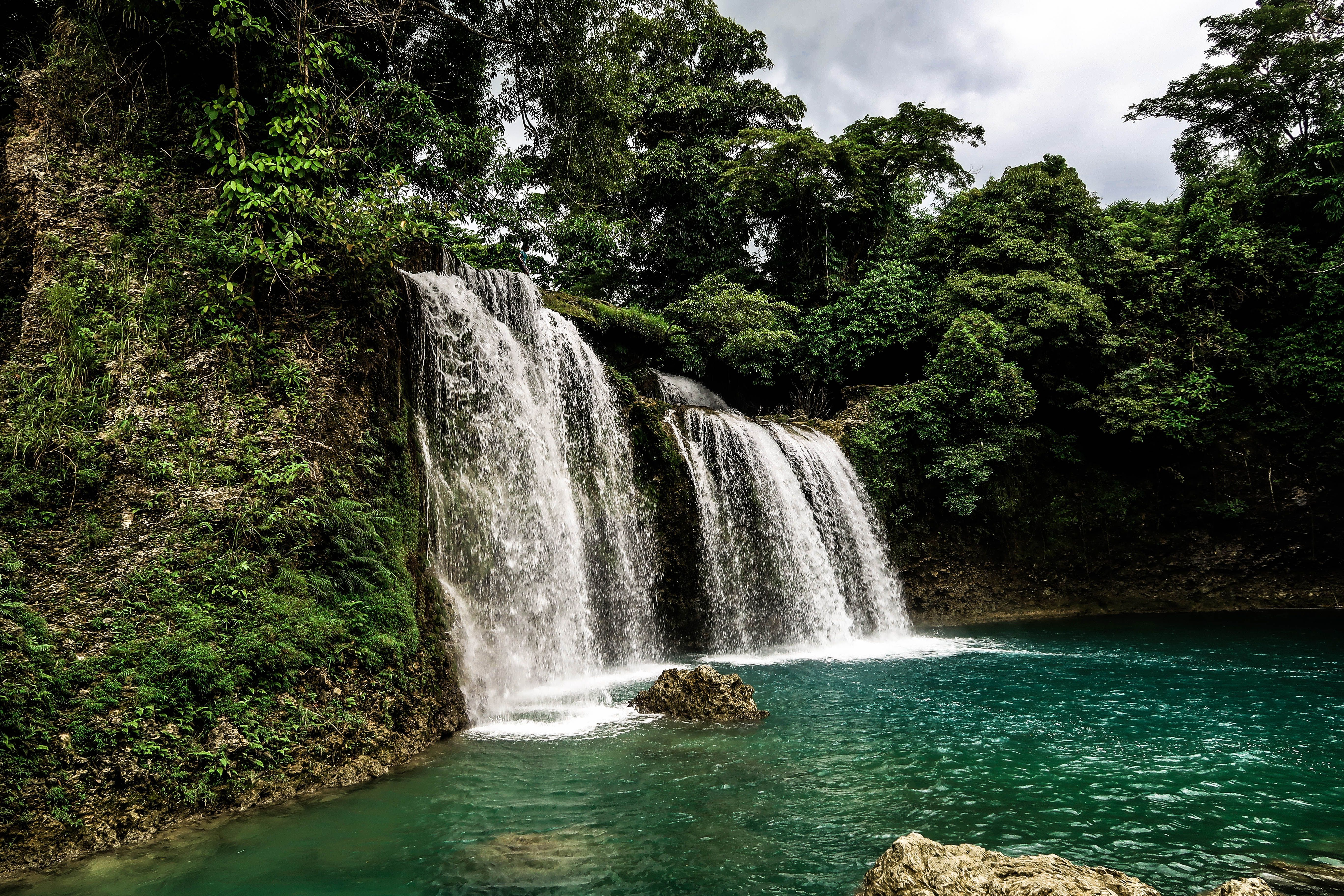 The Bolinao Falls are three popular waterfalls in the
