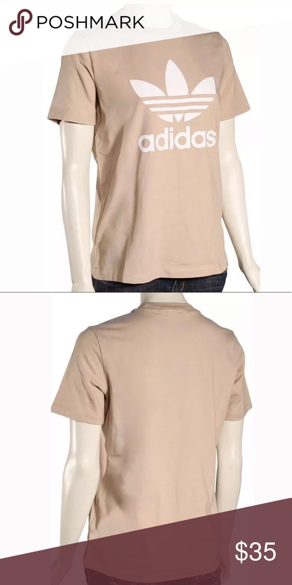 b803a785b594 Adidas Trefoil Tee ASHPEA WHITE Womens T-Shirt NEW Rock a classic look in