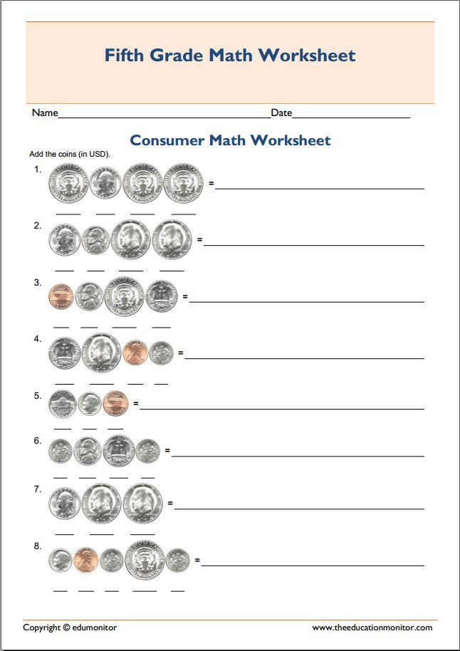 Printable grade 5 consumer mathematics