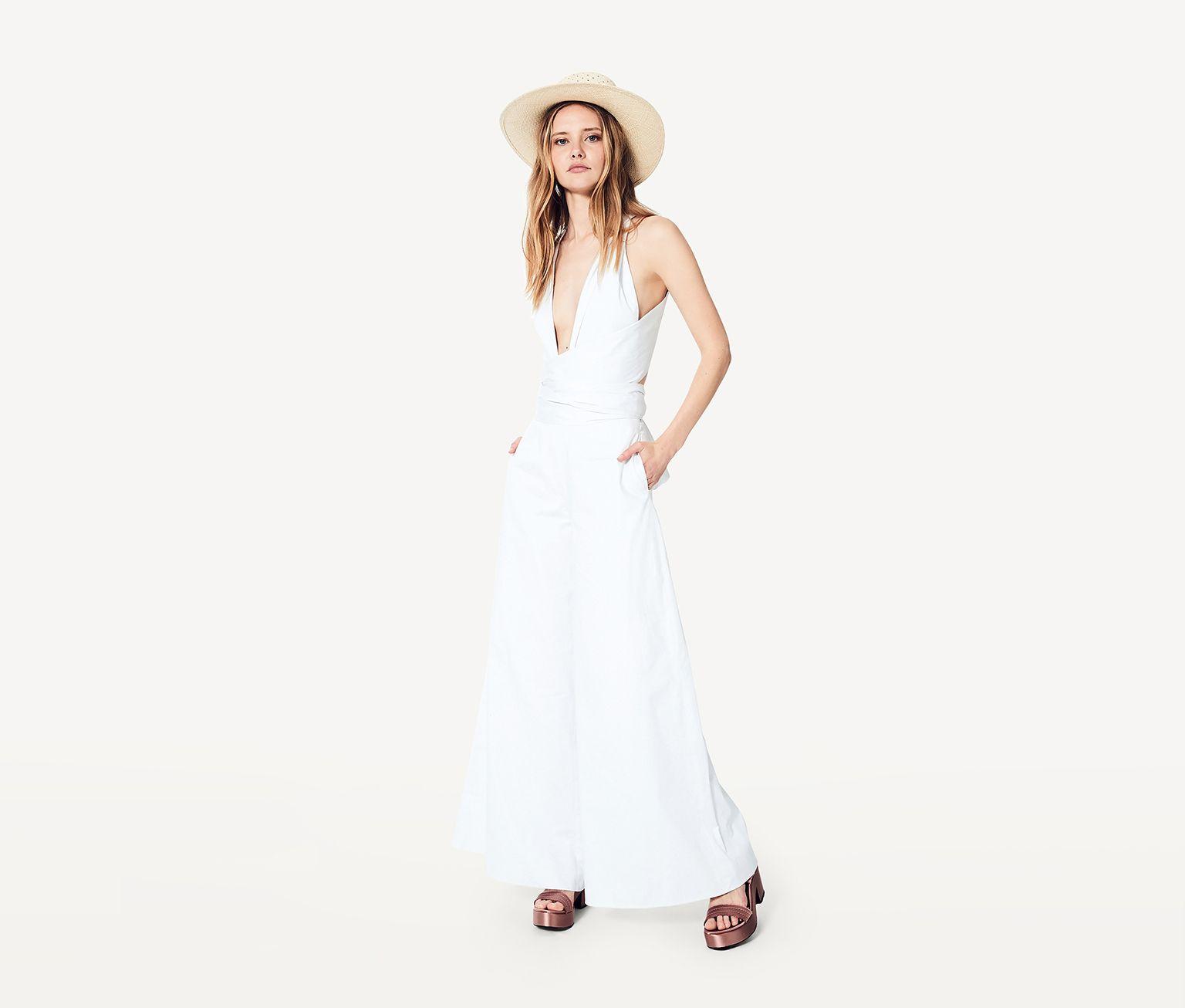 Wedding dress bodysuit  White The Rae Jumpsuit Dress  Fame u Partners USA  The White Edit
