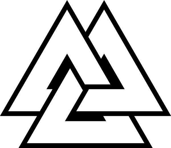Valknut Eye Odin Devoted Norse Symbols Viking Symbols