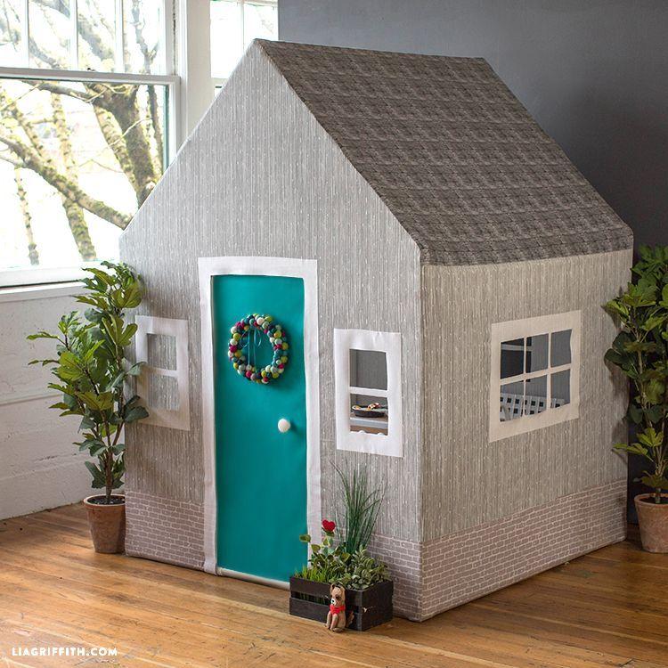 Diy fabric playhouse lia griffith diy playhouse play