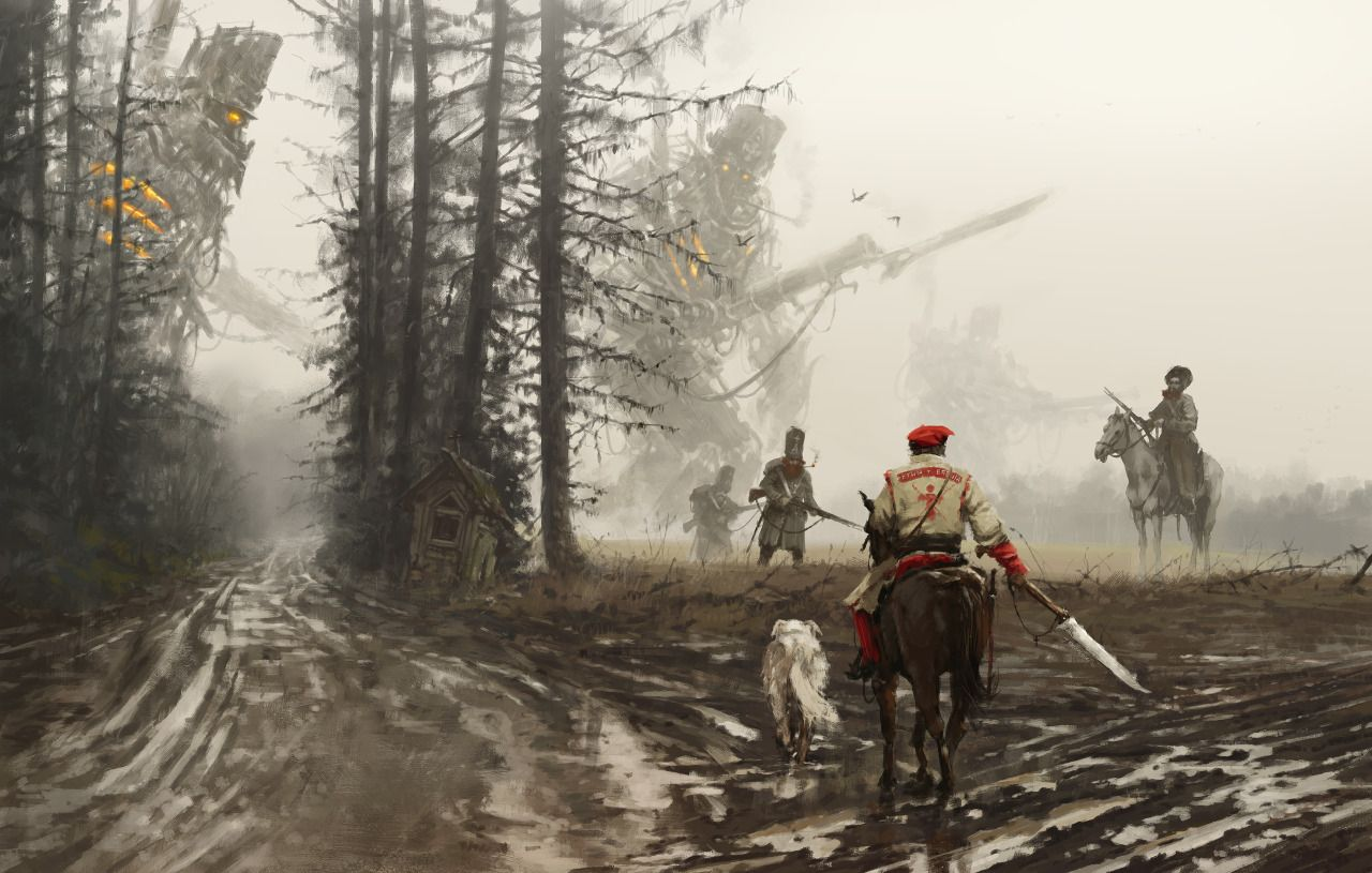 'they feed and defend' new painting from my '1863 - Wolfpack ' project, about the group of extraordinary insurgents fighting against the Russian Empire in the nineteenth-century Poland… on jacket of the main character, I added inscription referring...