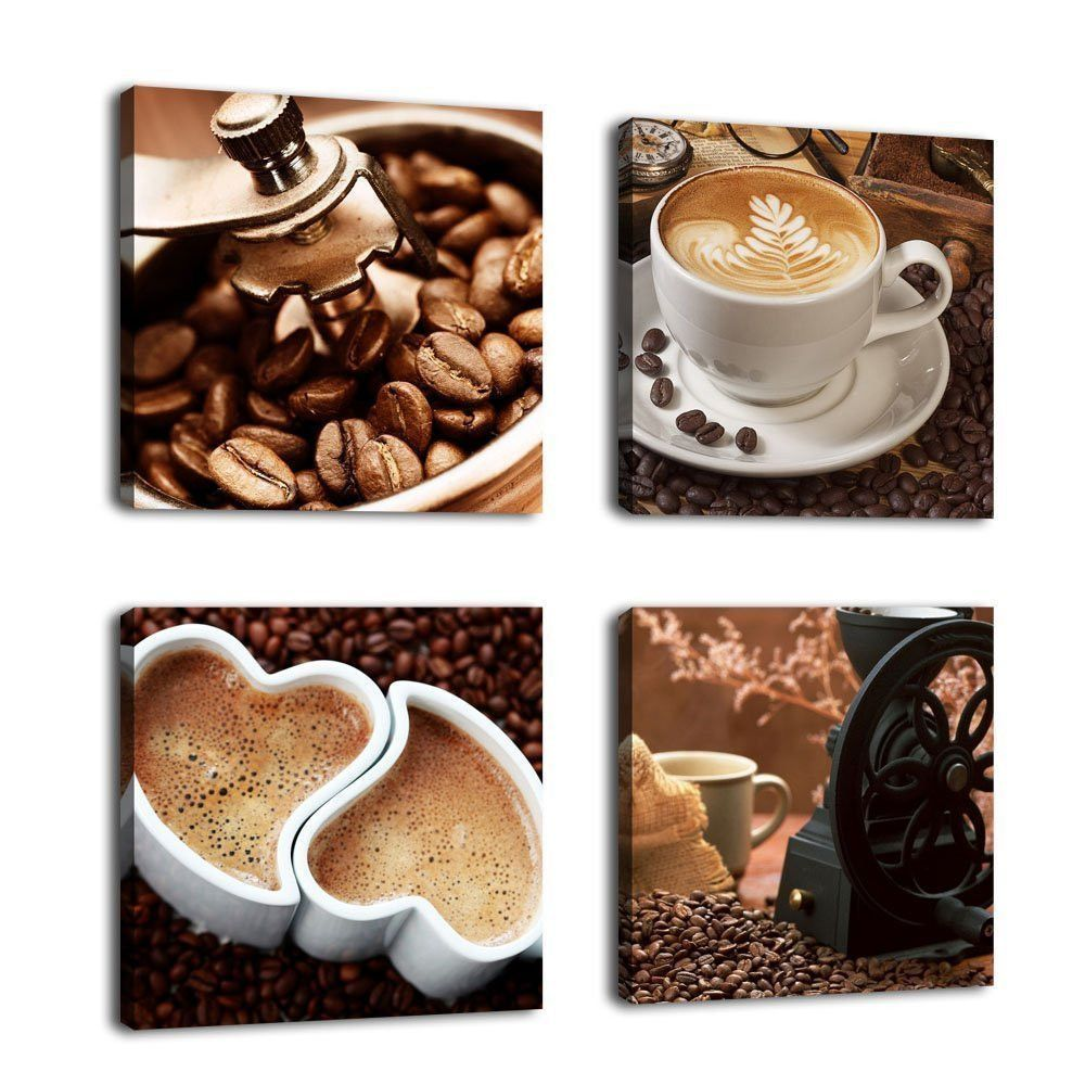 Colorcoffee art vitange canvas prints framed ready to hang for wall