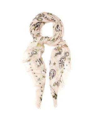 Skull Tattoo-print silk scarf   Alexander McQueen   MATCHESFASHION.COM US
