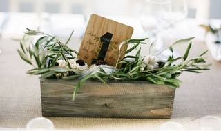 table number in centerpiece