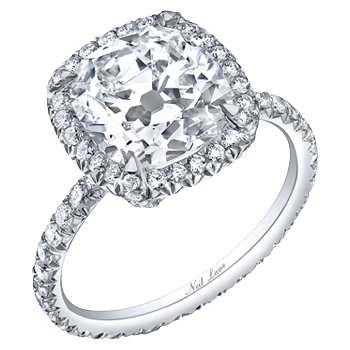 """""""classic cushion cut diamond ring set in platinum""""... This will be mine one day... even if I have to buy it for myself! lol"""