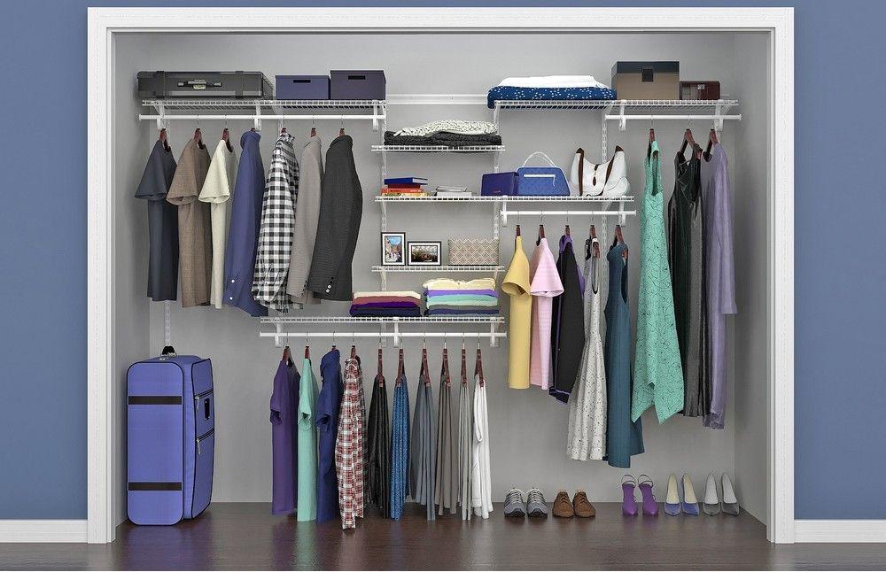Shelftrack 7 Ft To 10 Ft Closet Organizer Kit Wire Shelving