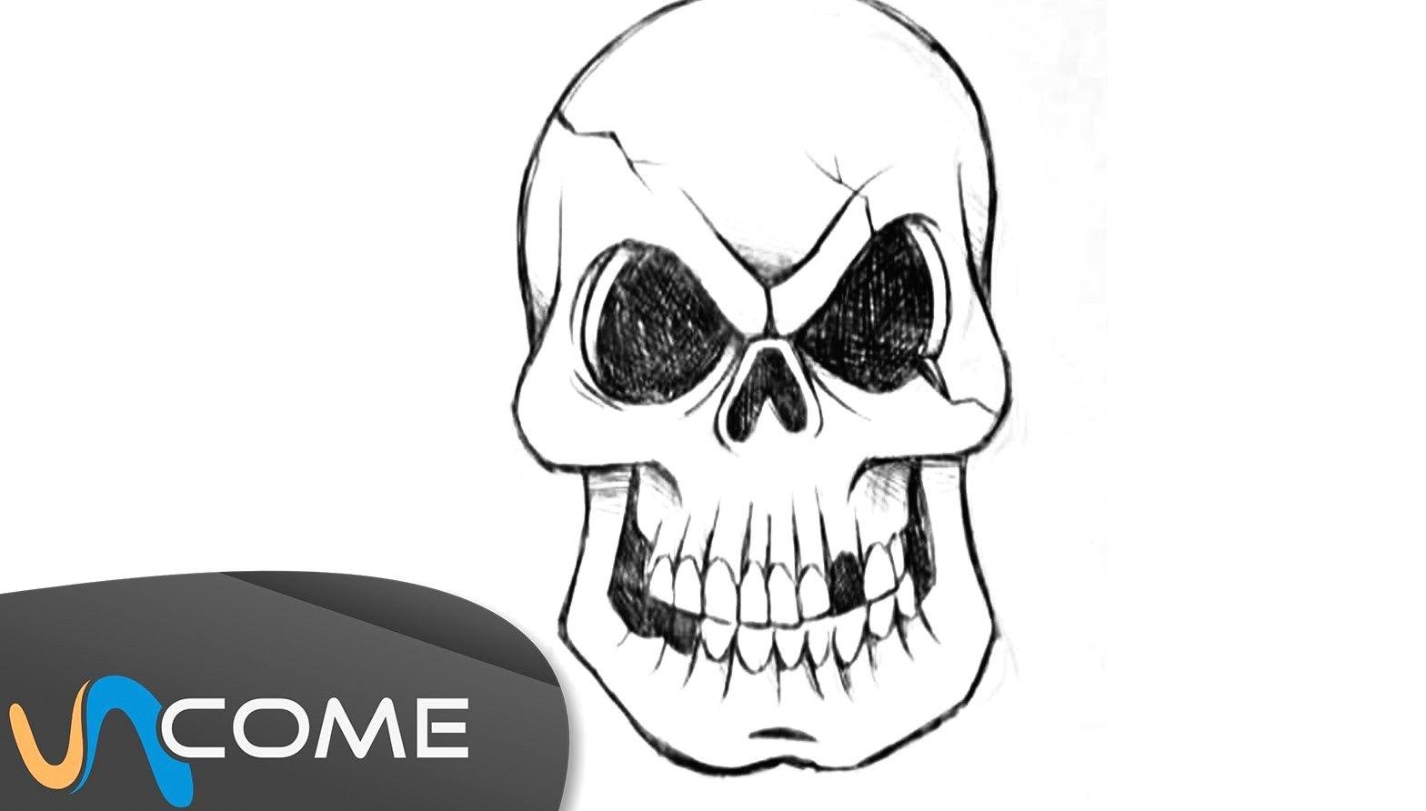 Come Disegnare Un Teschio Per Halloween Youtube Avec