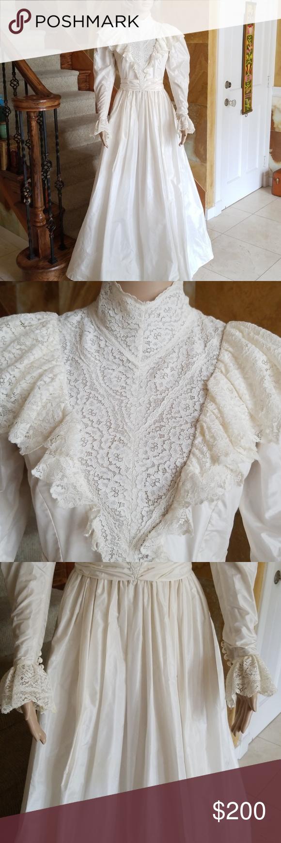 Beautiful Mr Gubbins Pure Silk Vtg Wedding Dress Wedding Dresses Dresses Wedding Dresses Vintage