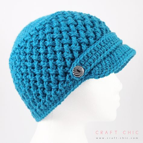Criss Cross Newsboy Hat By Ana Benson - Free Crochet Pattern - Adult ...