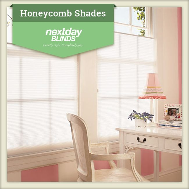 Light Filtering Honeycomb Shades!   Energy efficient shades that provide diffused light and privacy. A white backing gives the shade a clean, consistent look from outside your house while reflecting incoming UV rays.  http://www.nextdayblinds.com/products/shades/honeycomb