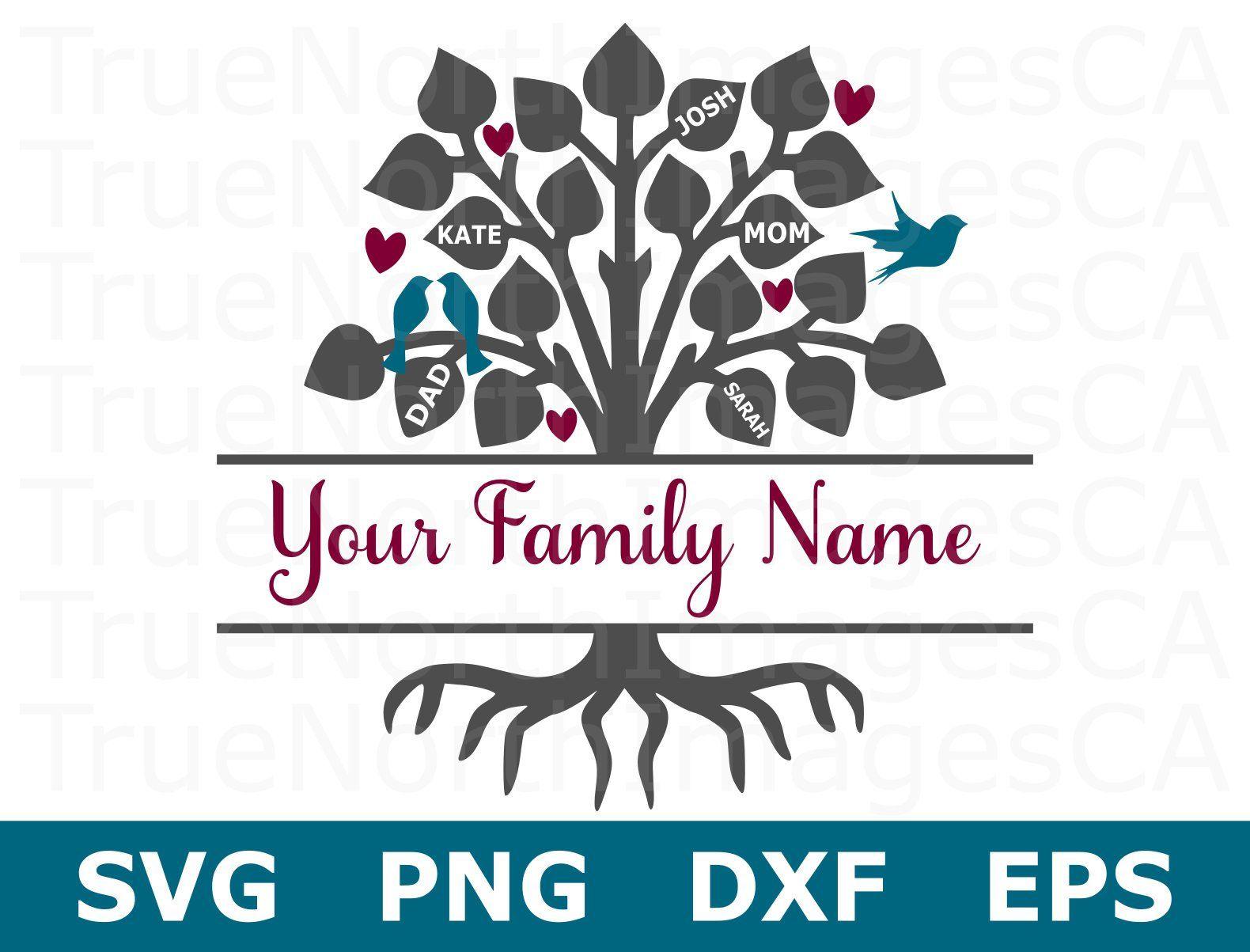 Family Tree SVG / Family SVG / Tree SVG / Monogram Svg