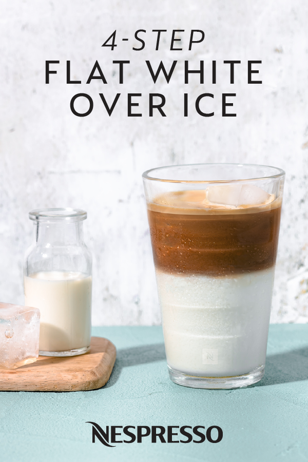 Flat White Over Ice Recipe in 2020 Coffee recipes
