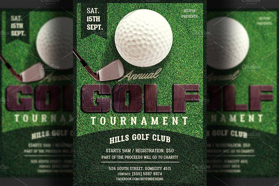 Golf Tournament Flyer Template Tournament Golf Flyer Templates