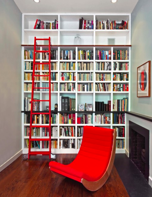 Libreria con scala rossa | Just Cool Things... | Pinterest ...