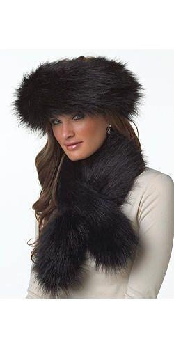 00e62bf6 Black Fox Faux Fur Halo | Fabulous-Furs | Fashion Acessories | Faux ...
