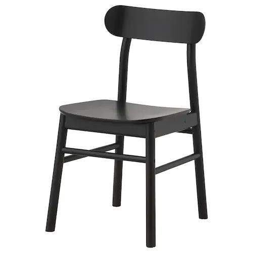 Ronninge Chair Black Ikea In 2020 Ikea Dining Chair Ikea Dining Ikea